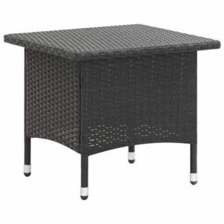 Zahradní čajový stolek polyratan Dekorhome Černá