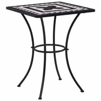 Mozaikový bistro stolek keramika Dekorhome Černá