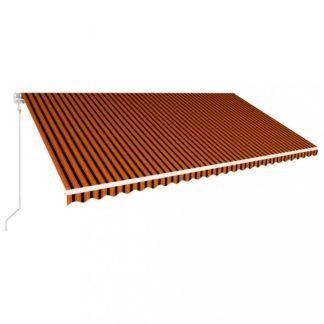 Automatická zatahovací markýza 600x300 cm Dekorhome Hnědá / oranžová