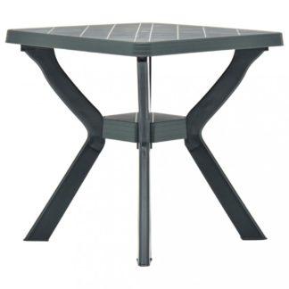 Zahradní bistro stolek plast Dekorhome Zelená