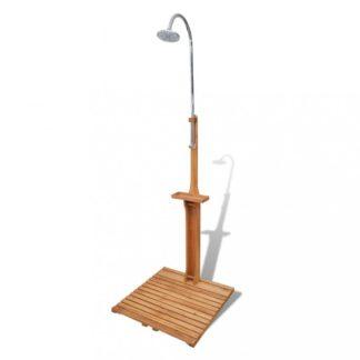 Zahradní sprcha jedlové dřevo Dekorhome Hnědá