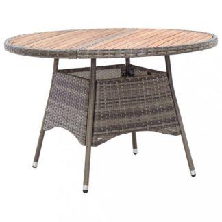 Zahradní stůl šedá / hnědá Dekorhome