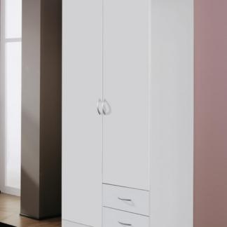 Šatní skříň Case, 91 cm, bílá