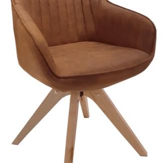 Jídelní židle Viborg, camel vintage látka