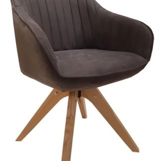 Jídelní židle Viborg, šedá vintage látka