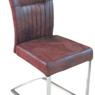 Jídelní židle Sonata, hnědá vintage látka