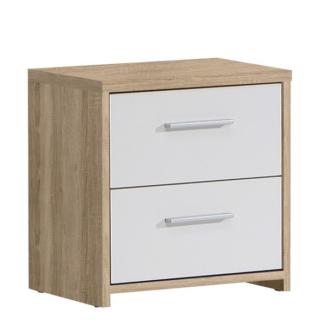 Asko Noční stolek/komoda Quadro K02, dub sonoma/bílá