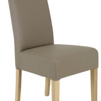 Asko Jídelní židle Pauline, béžová ekokůže