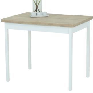 Asko Jídelní stůl Kiel I 90x65 cm, bílý/dub sonoma