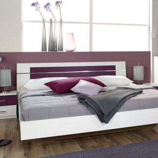 Asko Postel s nočními stolky Burano 160x200 cm, bílá/fialová
