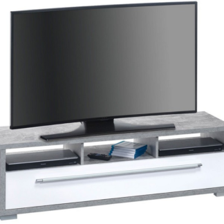 Asko TV stolek Glanz 7645, beton/bílý lesk