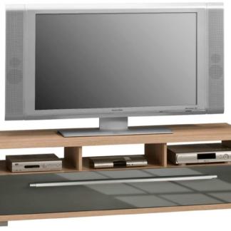 Asko TV stolek Glanz 7645, dub sonoma/šedý lesk