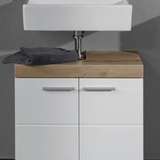 Asko Koupelnová skříňka pod umyvadlo Amanda 301, sukový dub/bílý lesk