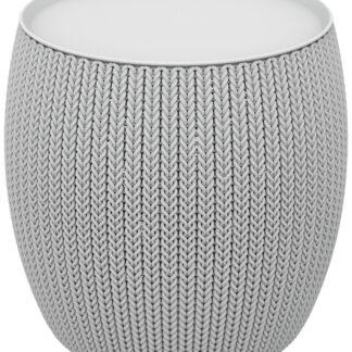 KNIT SINGLE TABLE (COZIES) stolek - šedý Keter