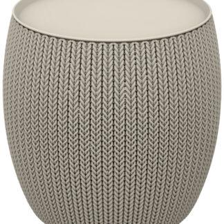 KNIT SINGLE TABLE (COZIES) stolek - pískový Keter