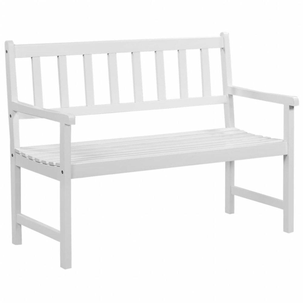 Zahradní lavice 120 cm bílá Dekorhome