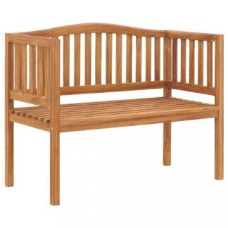 Zahradní lavička 120 cm z teakového dřeva Dekorhome