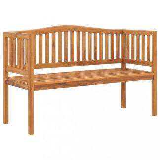 Zahradní lavička 150 cm z teakového dřeva Dekorhome