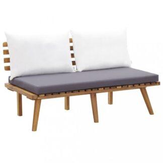 Zahradní lavice s polštářky 115 cm akáciové dřevo Dekorhome