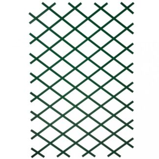 Zahradní treláže 2ks 100 x 200 cm PVC zelené Dekorhome