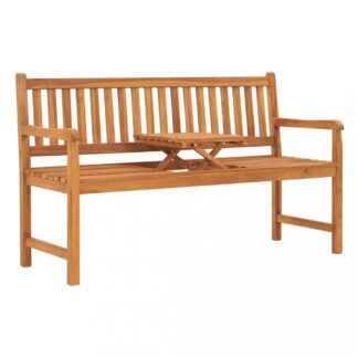 Zahradní lavice se stolkem 150 cm teakové dřevo Dekorhome