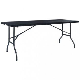 Skládací zahradní stůl 180 cm černá Dekorhome