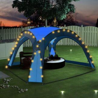 Party stan s LED světly 3,6x3,6 m modrá Dekorhome