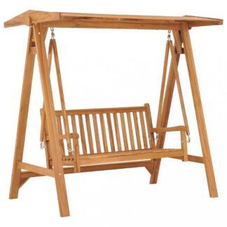Houpací lavice 170 cm teakové dřevo Dekorhome