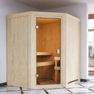 Interiérová finská sauna 170 x 151 cm Dekorhome