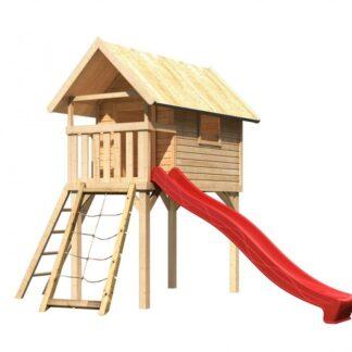 Dětská hrací věž se skluzavkou Dekorhome Červená