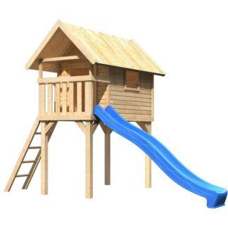 Dětská hrací věž se skluzavkou Dekorhome Modrá