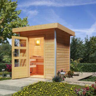 Venkovní finská sauna 196 x 146 cm Dekorhome