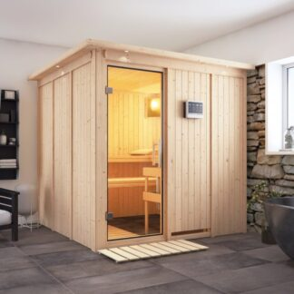 Interiérová finská sauna 196 x 196 cm Dekorhome