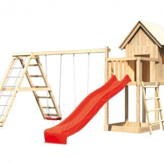 Dětské hřiště se skluzavkou Dekorhome Červená