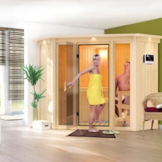 Interiérová finská sauna 210 x 210 cm Dekorhome