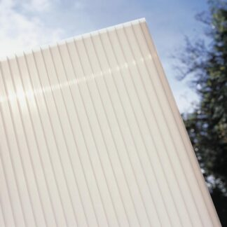 Hliníková pergola 4,34 x 3 m bílá / polykarbonát Dekorhome Mléčně bílá (opál)
