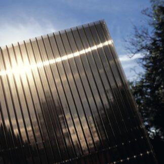 Hliníková pergola 4,34 x 3 m bílá / polykarbonát Dekorhome Kouřově hnědá (bronz)