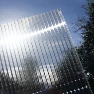 Hliníková pergola 4,34 x 3 m bílá / polykarbonát Dekorhome Průhledná (čirá)