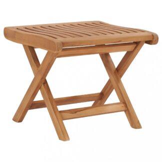 Zahradní skládací stolička z teakového dřeva Dekorhome