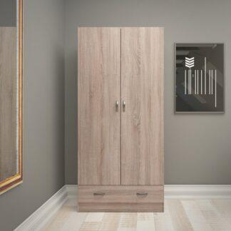 Dvoudveřová šatní skříň 75088 lanýž - TVI