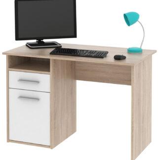 Kancelářský psací stůl MIRO, dub sonoma/bílá