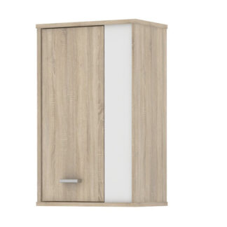 Závěsná skříňka FU12, dub sonoma/bílá