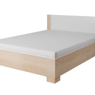Postel MARKOS s roštem 160x200 cm, dub sonoma/bílá
