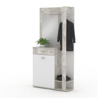 Monoblok předsíňový XR 03, beton/bílá