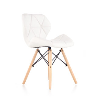 Jídelní židle K-281, bílá