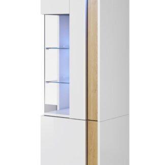 MARCO vitrína stojící 50/160 pravá, bílá/dub