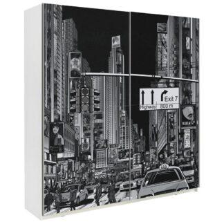 Möbelix Skříň S Posuvnými Dveřmi Plakato New York