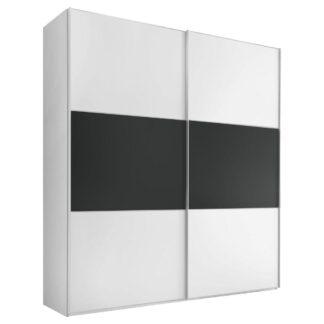 Möbelix Skříň S Posuvnými Dveřmi Includo 188 Cm Bílá/vulkan