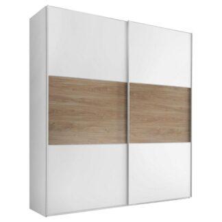 Möbelix Skříň S Posuvnými Dveřmi Includo 200 Cm Bílá/puccini