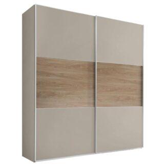 Möbelix Skříň S Posuvnými Dveřmi Includo 225 Cm Sand/puccini